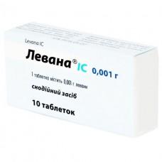 ЛЕВАНА® IC таблетки по 1 мг №10 (10х1)