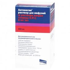АКТОВЕГИН раствор д/инф. 20 % в физ. р-ре по 250 мл во флак. №1