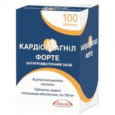 КАРДИОМАГНИЛ ФОРТЕ таблетки, п/плен. обол., по 150 мг №100 во флак.