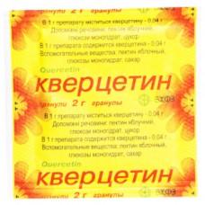 КВЕРЦЕТИН гранулы, 0,04 г/1 г по 2 г в пак.
