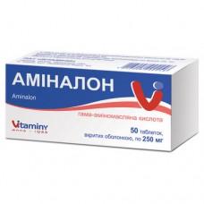 АМИНАЛОН таблетки, п/о, по 0,25 г №50 (10х5)