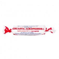 АСКОРБИНОВАЯ КИСЛОТА (ВИТАМИН С) С САХАРОМ таблетки по 0,025 г №10