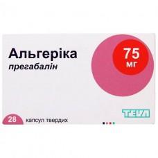 АЛЬГЕРИКА капсулы тв. по 75 мг №28 (7х4)