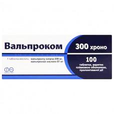 ВАЛЬПРОКОМ 300 ХРОНО таблетки, п/плен. обол., прол./д. №100 (10х10)