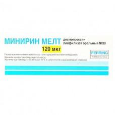 МИНИРИН МЕЛТ лиофилизат ор. по 120 мкг №30 (10х3)