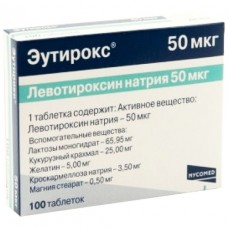 ЭУТИРОКС таблетки по 50 мкг №100 (25х4)