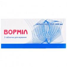 ВОРМИЛ таблетки д/жев. по 400 мг №3 (3х1)