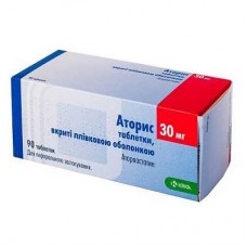 АТОРИС таблетки, п/плен. обол., по 30 мг №90 (10х9)