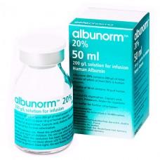 АЛЬБУНОРМ 20 % раствор д/инф. 20 % (200 мг/мл) по 50 мл во флак.