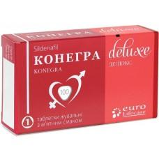 КОНЕГРА ДЕЛЮКС таблетки жев. по 100 мг №1 в блис.