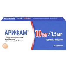 АРИФАМ® 1,5 МГ/10 МГ таблетки с модиф. высвоб., по 1,5 мг/10 мг №30 (15х2)