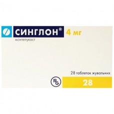 СИНГЛОН® таблетки жев. по 4 мг №28 (7х4)