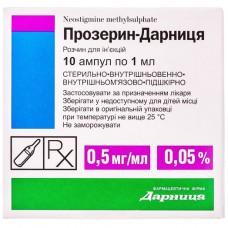 ПРОЗЕРИН-ДАРНИЦА раствор д/ин., 0,5 мг/мл по 1 мл в амп. №10