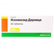 ИЗОНИАЗИД-ДАРНИЦА таблетки по 300 мг №50 (10х5)