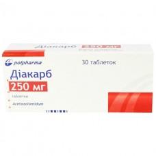 ДИАКАРБ таблетки по 250 мг №30 (10х3)