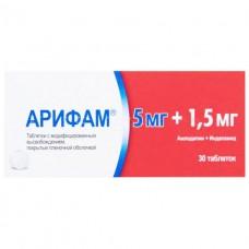 АРИФАМ® 1,5 МГ/5 МГ таблетки с модиф. высвоб., по 1,5 мг/5 мг №30 (15х2)