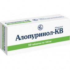 АЛЛОПУРИНОЛ-КВ таблетки по 100 мг №50 (10х5)