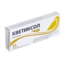 КВЕТИКСОЛ таблетки, п/плен. обол., по 100 мг №30 (10х3)