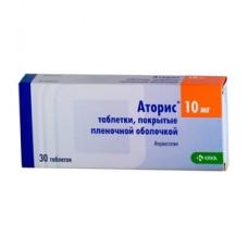 АТОРИС таблетки, п/плен. обол., по 10 мг №30 (10х3) (МЕДИКАРД)