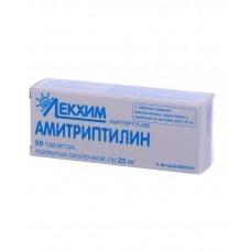 АМИТРИПТИЛИН таблетки, п/о, по 25 мг №50 (10х5)