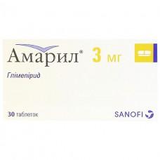 АМАРИЛ® таблетки по 3 мг №30 (15х2)