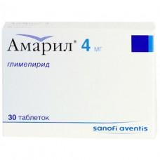 АМАРИЛ® таблетки по 4 мг №30 (15х2)