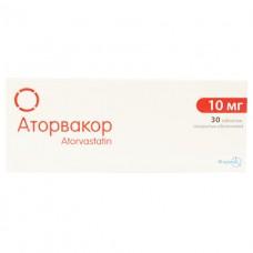 АТОРВАКОР® таблетки, п/о, по 10 мг №30 (10х3)