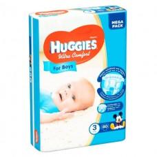 Памперсы Huggies ультра комф.-3 5-9кг №80 д/мал.