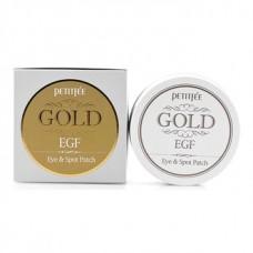 PETITFEE Гидрогелевые патчи для глаз Gold & EGF Eye & Spot Patch 90шт