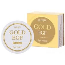 PETITFEE Гидрогелевые патчи для глаз с золотом EGF Premium Gold & EGF Eye Patch 60шт