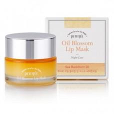PETITFEE Маска ночная д/губ с маслом облепихи и вит.Е Oil Blossom Lip Mask 15g