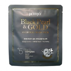 PETITFEE Маска гидрогел. д/лица с золотом и черн.жемчугом Black Pearl & Gold Hydrogel Mask Pack(1шт)