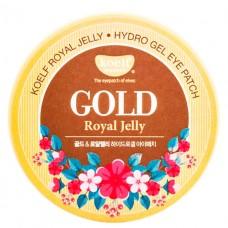KOELF Гидрогелевые патчи для глаз с золотом Gold & Royal Jelly Eye Patch