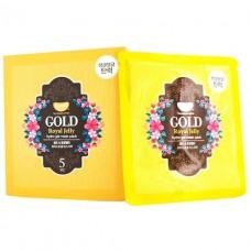 KOELF Маска гидрогелевая для лица с золотом +мат.молочко Gold & Royal Jelly Hydro Gel Mask