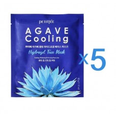 PETITFEE Маска д/лица. гидрогел. охлажд. с экстр. Агавы Agave Cooling Hydrogel Face Mask 32g (5шт)
