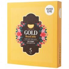 KOELF Маска для лица гидрогелевая с золотом  Gold & Royal Jelly Hydro Gel Mask  (5шт)