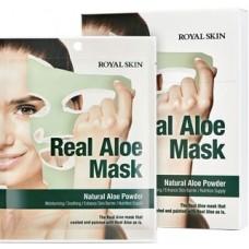 ROYAL SKIN  Маска для лица с алоэ  REAL ALOE MASK (5шт)