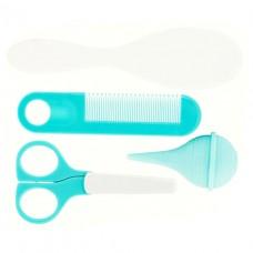 Комплект для догляду за малюком (щітка, гребінець, носовий аспіратор, ножиці), арт. HG029