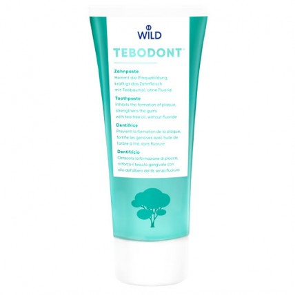 TEBODONT Зубная паста с маслом чайного дерева (0,75%), без фторида 75 мл