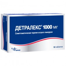 Детралекс таб.п/о 1000мг №18 (9*2)