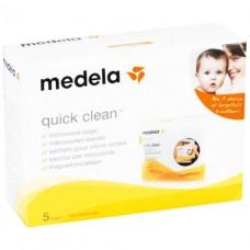 MEDELA / МЕДЕЛА Пакеты для паровой стерил. в микроволновой печи (Quick Clean Microwave Bags) 5шт