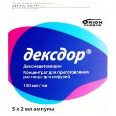 ДЕКСДОР концентрат для р-ра д/инф., 100 мкг/мл по 2 мл в амп. №5
