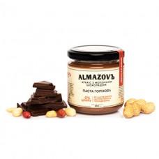 Паста ореховая Арахис с молочным шоколадом 200г ALMAZOVЪ