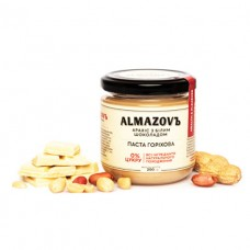Паста ореховая Арахис с белым шоколадом 200г ALMAZOVЪ