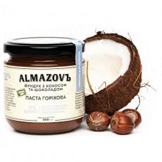 Паста ореховая Фундук с кокосом и шоколадом 200г ALMAZOVЪ