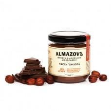 Паста ореховая Фундук с молочным шоколадом 200г ALMAZOVЪ