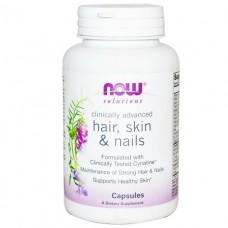 NOW Foods CLINICAL HAIR, SKIN & NAILS красота и здоровье в капсулах №30  (НАУ ФУДС)