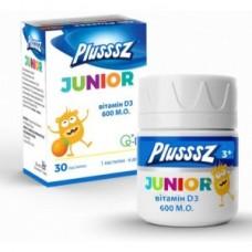 PLUSSSZ Junior + витамин D3 пастилки 1г апельсин №30