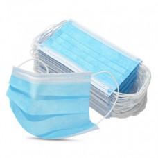 Маска медицинская 3слоя на резинке +103, голубой №1