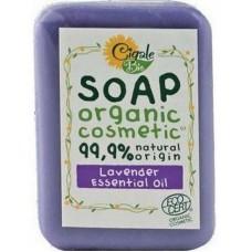CIGALE BIO органическое косметическое мыло с эфирным маслом лаванды 100г